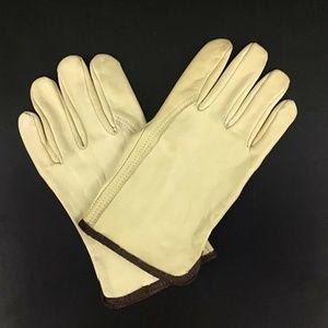 Vintage 100% Leather Women's Work Garden Gloves